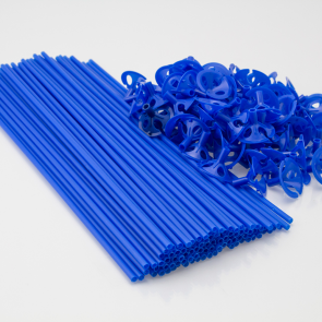 100 Balloon sticks , 40cm - blue