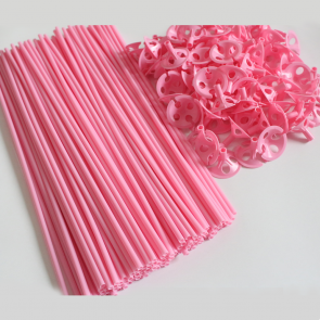100 Balloon sticks , 40cm - pink
