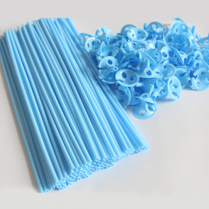 100 Balloon sticks , 40cm - ligth blue