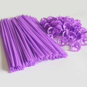 100 Balloon sticks , 40cm - purple