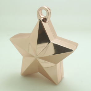 Star balloonweight - metallic rose gold