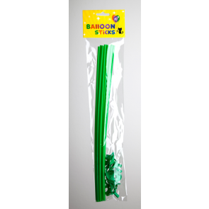 10 Balloon sticks , 40cm - green