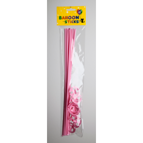 10 Balloon sticks , 40cm - pink