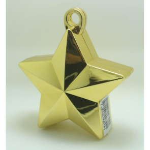 Star balloonweight - metallic gold