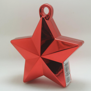 Star balloonweight - metallic red