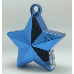 Star balloonweight - metallic blue
