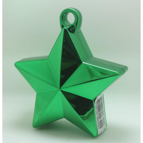 Star balloonweight - metallic green