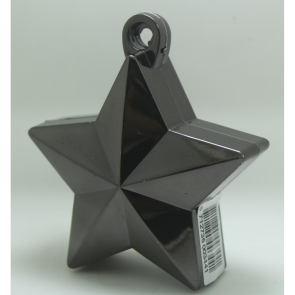 Star balloonweight - metallic black