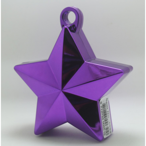 Star balloonweight - metallic purple