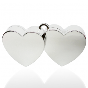 Heart balloonweight - silver