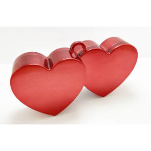 Heart balloonweight - red