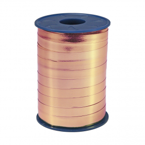 Ribbon 250m x 5mm Rose gold metallic