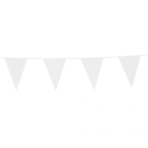 Bunting PE 10m. white - size flags: 20x30cm