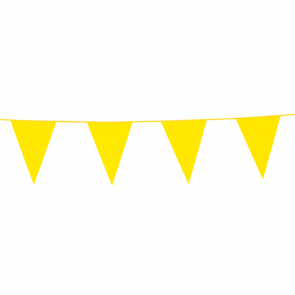 Bunting PE 10m. yellow - size flags: 20x30cm