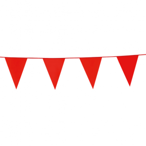 Bunting PE 10m. red - size flags: 20x30cm