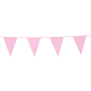 Bunting PE 10m. pink - size flags: 20x30cm