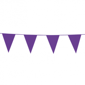 Bunting PE 10m. purple - size flags: 20x30cm