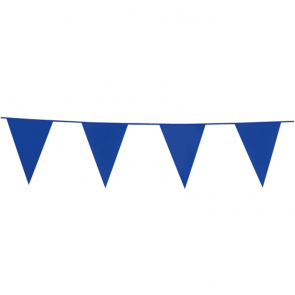Bunting PE 10m. blue - size flags: 20x30cm