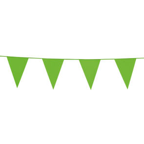 Bunting PE 10m. light green - size flags: 20x30cm