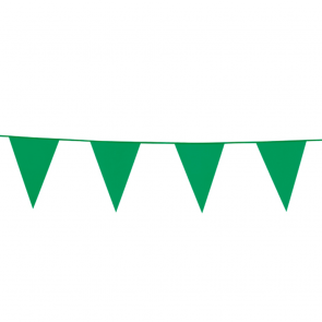 Bunting PE 10m.  green - size flags: 20x30cm