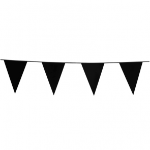 Bunting PE 10m. black - size flags: 20x30cm