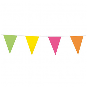 Bunting PE 10m.  assorted colors - size flags: 20x30cm