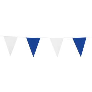 Bunting PE 10m.  blue & white - size flags: 20x30cm