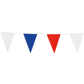Bunting PE 10m.  red - white - blue - size flags: 20x30cm