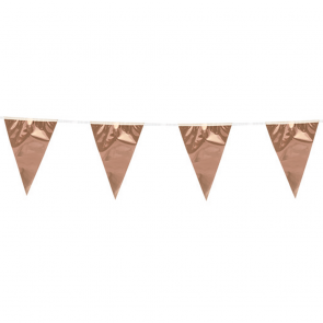 Bunting PE 10m.  rose gold - size flags: 20x30cm