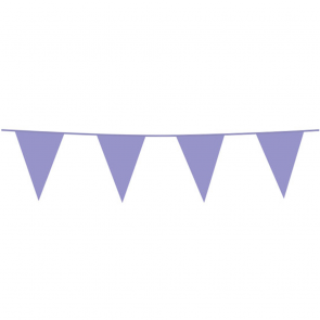 Bunting PE 10m. lilac - size flags: 20x30cm