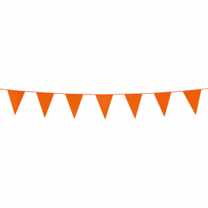 Bunting PE 3m. orange - size flags:10x15cm
