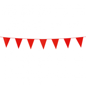 Bunting PE 3m. red - size flags:10x15cm