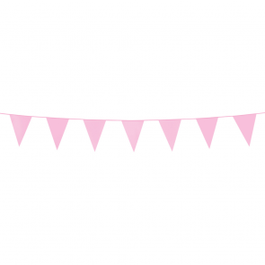 Bunting PE 3m. pink - size flags:10x15cm