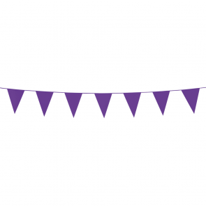 Bunting PE 3m. purple - size flags:10x15cm