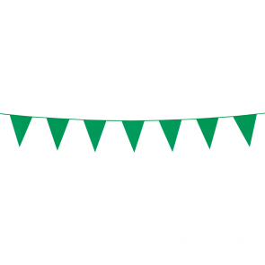 Bunting PE 3m.  green - size flags:10x15cm