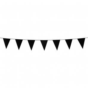 Bunting PE 3m. black - size flags:10x15cm