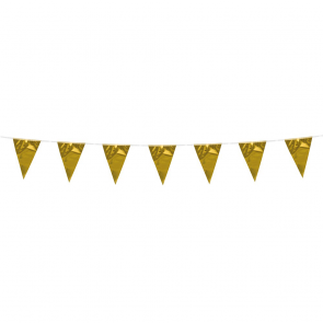 Bunting 3m. gold metallic - size flags:10x15cm