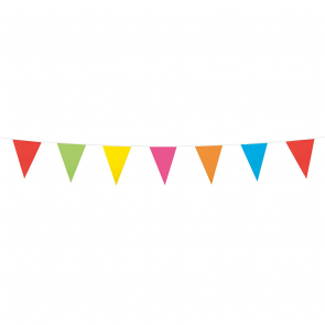 Bunting PE 3m.  assorted colors - size flags:10x15cm