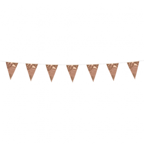 Bunting PE 3m. rose gold - size flags:10x15cm