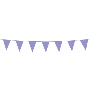 Bunting PE 3m. lilac - size flags:10x15cm