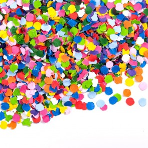 Confetti 100 gram round 1cm, assorted colors