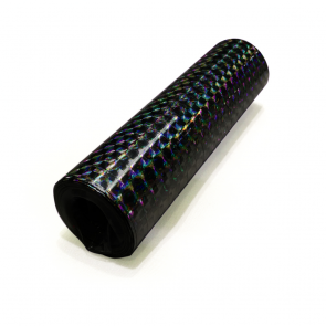 Streamers holographic 18x4m - black