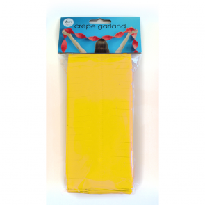Crepe Garland 6m - yellow