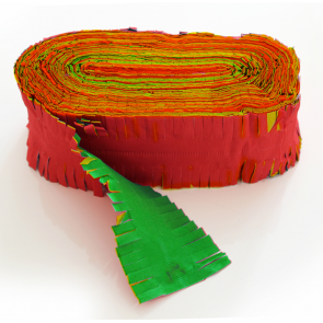 Crepe Garland 24m - Flameproof - red-yellow-green