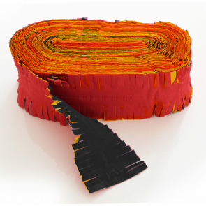 Crepe Garland 24m - Flameproof - red-yellow-black