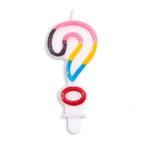 Number candle multicolor -  ?