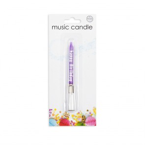 12 Music candles, assorted colors
