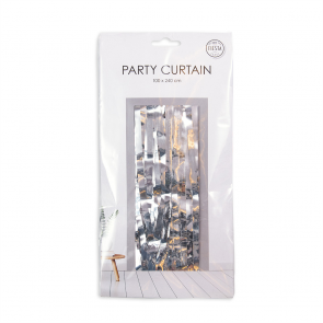 Party curtain 100x240cm - Flame Retardent - silver