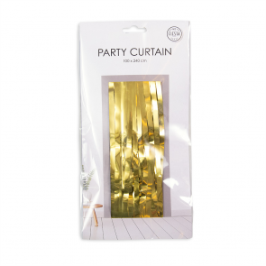 Party curtain 100x240cm - Flame Retardent - gold
