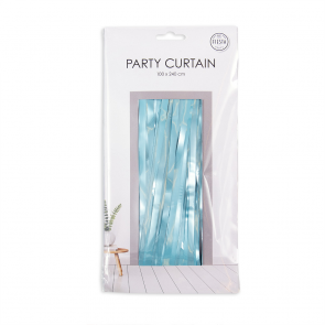 Party curtain 100x240cm - Flame Retardent - baby blue